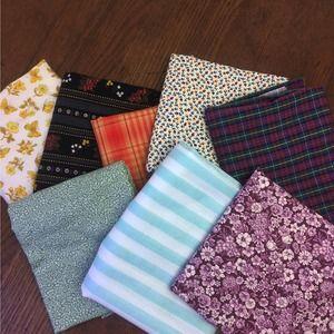 Vintage Quilting Fabric 8 Fat Quarters     Lot #2